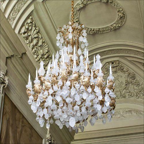 image of Rothschild rock crystal chandelier